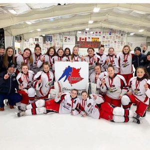 Audrey Levesque & the Moncton Bantam AAA Rockets capture Provincial Title